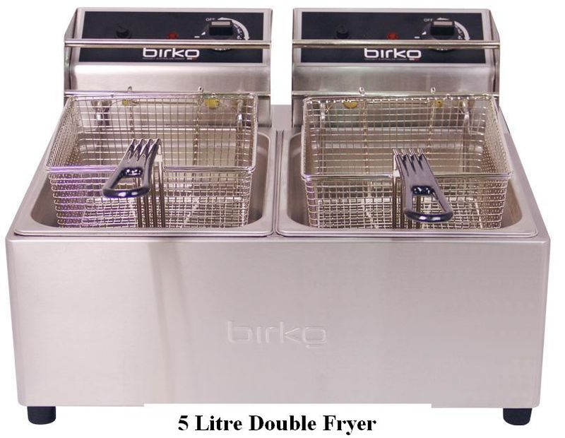 Birko Single and Double Electric Bench Fryer