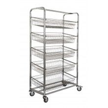 KSS 5 Basket Angled Bakery Trolley