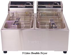 Birko Single & Double Electric Bench Fryer