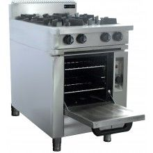 Oxford 4 Burner w/Gas oven