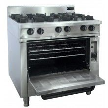 Oxford 6 Burner w/Gas oven
