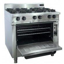 Oxford 6 Burner w/Gas oven
